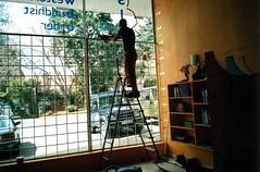 Johannesburg Centre window during building work