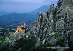 Anapafsa Monastery, Meteora, Greece (agirregabiria) Tags: rock high europe european religion monk belltower safety greece sacred perch remote lonely monolith middleages pinnacle greekorthodoxchurch jut kastraki anapafsamonasterymeteoragr