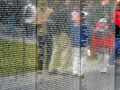 Reflecting on the Past (michele33) Tags: reflection washington memorial war vietnam vietnamveteransmemorial panel16w reflectionsatthewall