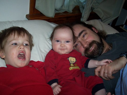 Z, T and me in bed