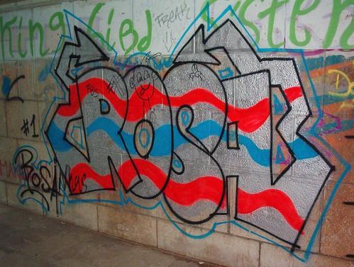 Nombre rosa en graffiti - Imagui