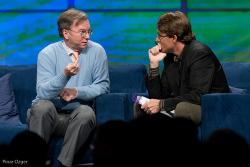 Eric Schmidt and John Battelle at Web2Expo