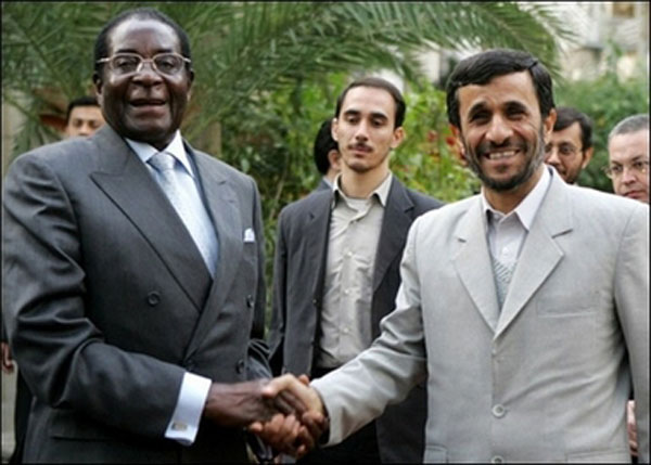 Ahmadinejad and Mugabe united: Thorns themselves will not harm you — you hurt yourself on the thorns.