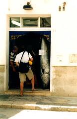 Tuna sandwiches available (willskii) Tags: 2003 italy 2004 island may sicily favignana egadiislands