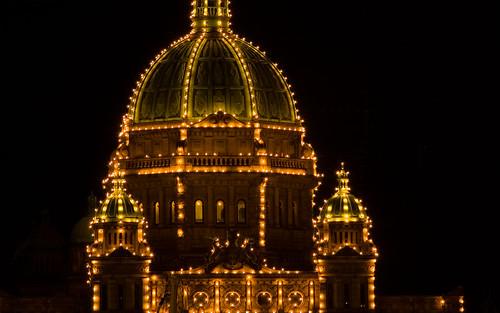Parliament Bldgs at night
