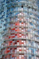 Torre AgBar, Barcelona (matteo_dudek) Tags: barcelona windows texture architecture viaggi architettura torreagbar barcellona redblue finestre rossoblu challengeyouwinner motifdchallengewinner lpwindows mcb1910