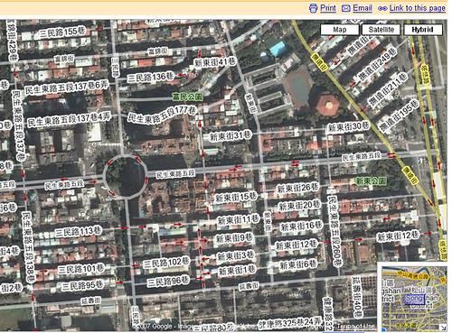 Google maps新增臺灣圖資
