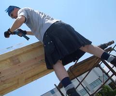 430 (utilikilts) Tags: black sunglasses workmans scaffolding working drill upkilt preservermerge utliikilts