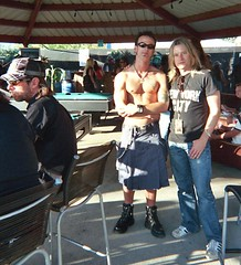 Our web designer Dean and Chris Wyse from The Cult at Ozzfest