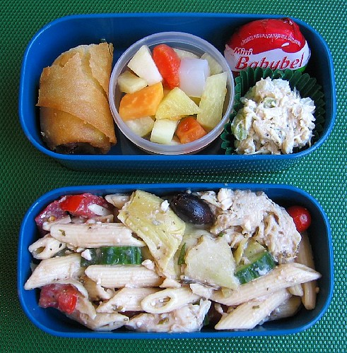 Pasta salad lunch for toddler