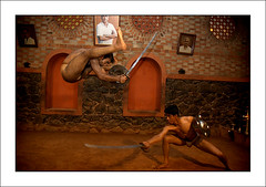 Training (yanseiler) Tags: world travel art work canon asia martialart martial kerala backpack 5d canon5d daggers independant kalary kalarypayatt kalarypayattu gurukkal