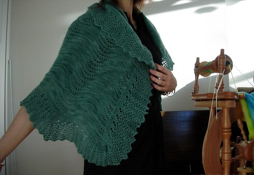 Another Front View of the Bloom Shawl
