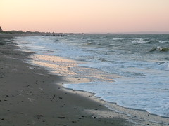 Incoming Tide At Sunset