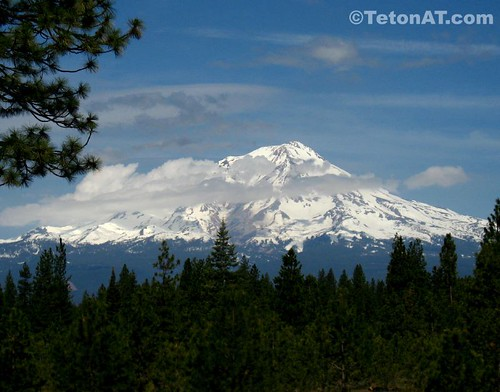 The Southeast side of Mount Shasta on the way to Lassen