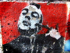 Taxi Driver (Celeste) Tags: street red art argentina wall graffiti stencil decay taxi driver deniro youtalkintome celesteromero