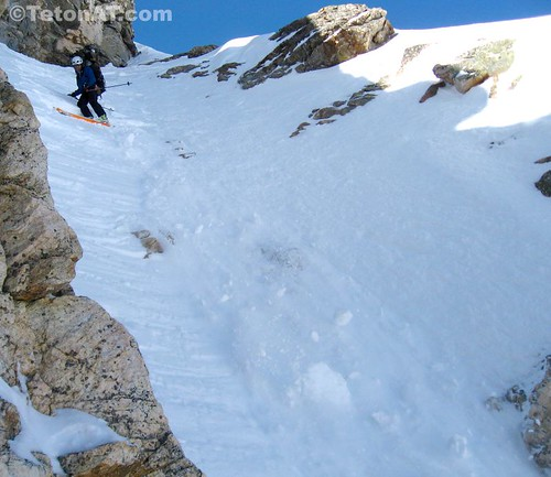 Chunky conditions in the Bubble Fun Couloir