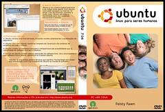 Capa para DVD Ubuntu 32bit pt_BR