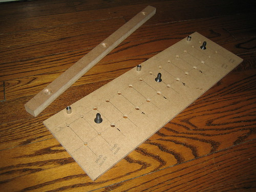 Disassembled Shelf Pin Jig