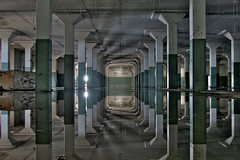 hall of mirrors II (rustyjaw) Tags: reflection abandoned water condemned factory urbandecay columns urbanexploration usnavy hdr mareislandnavalshipyard building866