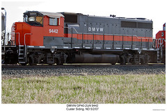 DMV&W GP40-2LW 9442 (Robert W. Thomson) Tags: railroad train diesel railway trains northdakota locomotive trainengine garrison emd gp402 fouraxle dmvw dakotamissourivalleywestern gp402lw custersiding