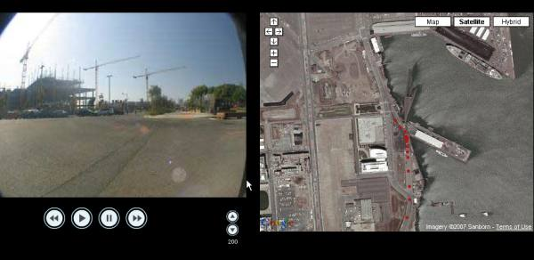 Driving Video Synched to Google Maps