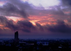 glimpse of hope (AraiGodai) Tags: morning cloud sunrise thailand dawn bangkok condo 17th raincloud rainyseason blueribbonwinner supershot heavyfog abigfave