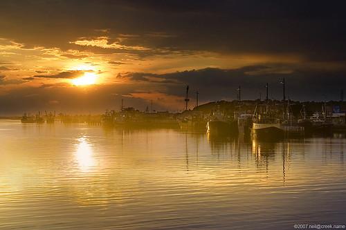 Sunset on Lakes Entrance