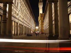 Uffizzi, Flash was there (Sator Arepo) Tags: light italy motion architecture night landscape florence nightscape perspective panasonic tuscany firenze toscana medici urbanscape uffizzi lz2 arepo theunforgetablepictures