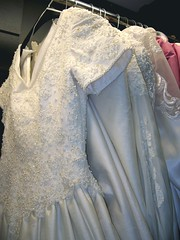 wedding dresses close-up