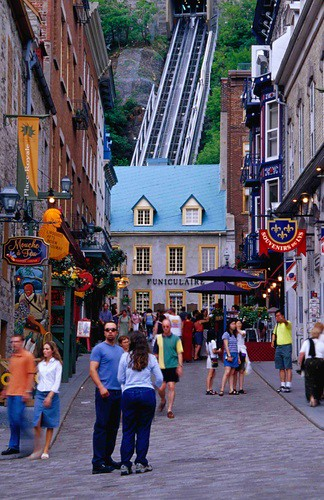 Elevator that goes up to the Chateaux in Old Quebec