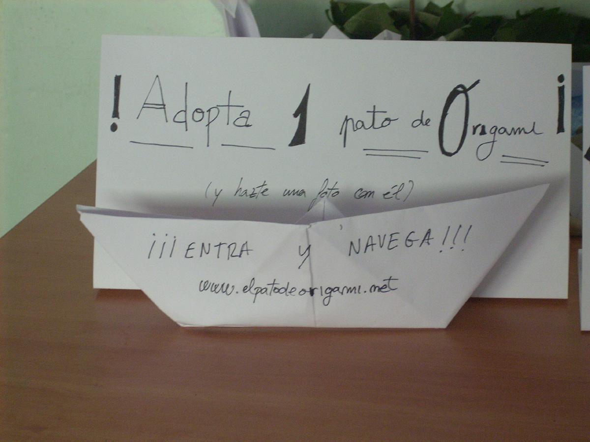 ¡Adopta 1 pato de Origami!