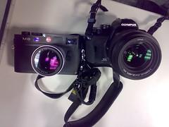 Leica Summilux vs Panasonic Leica D Summilux (digitalbear) Tags: leica japan 50mm tokyo f14 olympus m8 summilux 25mm e410