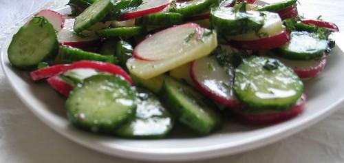 Potato Salad with Cucumbers & Radishes