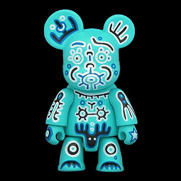 0530. Series 5B - Sasha Huber-Shy = Veve #4 (blue, mystery figure) (2005) - 01