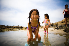 Fun @ the Tide Pools (arkworld) Tags: california beach jessie jane sydney tidepools lagunabeach sywbpppoolpool public4now