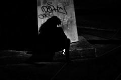 Thinking of You  !!!!! (imagejoe) Tags: nevada vegas strip street black white photography photos shadows reflections people nikon