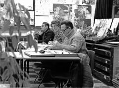 Art Class (paulwhitmarshastro) Tags: film ilfordfilm kodabromeii pentaxmv1 crownwoodsschool adulteducation art class