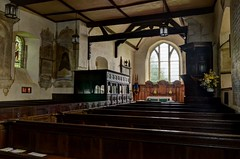 Church of St John the Baptist, Stokesay, Shropshire (Baz Richardson (now away until 31 March)) Tags: shropshire stokesay churchofstjohnthebaptiststokesay 17thcenturychurches architecture churchinteriors gradeilistedbuildings englandsthousandbestchurches