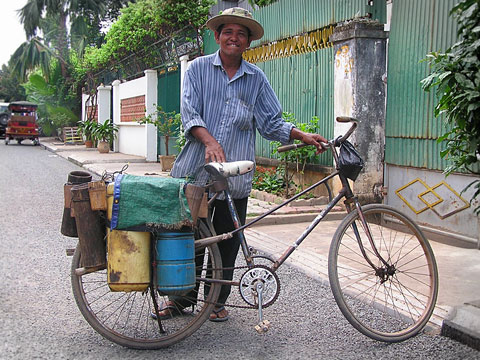 Palm sap juice vendor Cambodia