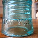 Glass telegraph insulator from New York