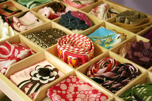 scarves, pins, belts