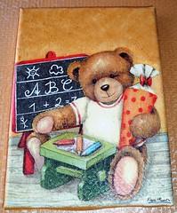 Teddy Bear e a escola (A Casa de Raphael) Tags: casa arte crianas decorao quadros