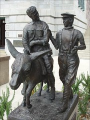 Richard Henderson and Simpsons Donkey (miltonmic) Tags: newzealand sculpture rescue statue bronze wounded donkey worldwari nz wellington warmemorial simpson gallipoli anzac firstaid thegreatwar richardhenderson miltonmic olympus800