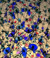 Northern Lights (William  Dalton) Tags: blue red abstract green glass sculpturegarden northernlights explore194 artlibre