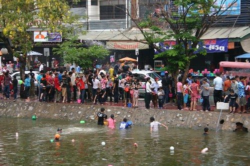Songkran in Chaing Mai. April 2007.