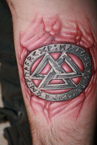 Valknot & Runes Tattoo (pic 2)