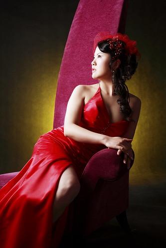 フリー画像|人物写真|女性ポートレイト|アジア女性|ドレス|中国人|フリー素材|