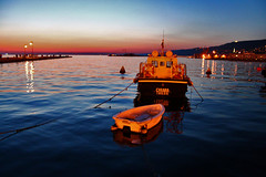 Sunset time in Trieste (eftimov-schenk-schwartz) Tags: travel sunset sea italy port colours trieste 25faves impressedbeauty diamondclassphotographer flickrdiamond flickrphotoaward