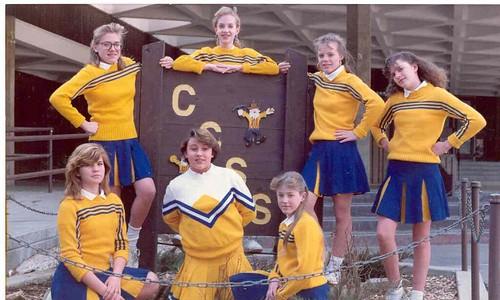 Middleschool Cheerleading - 1990