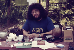 Yes (rgdaniel) Tags: camping hairy selfportrait film print 1974 yes scan hippie smirk interestingness8 i500 i100